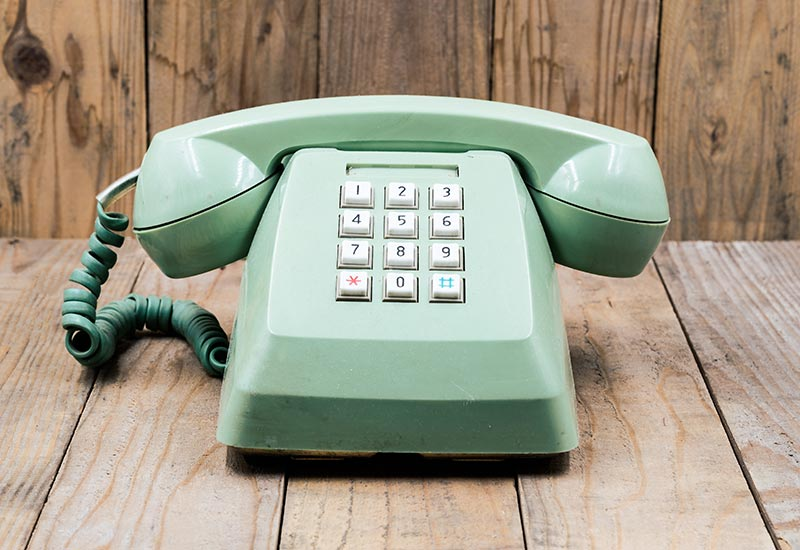 vintage telephone contact